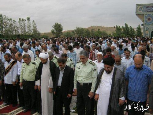 حضور فرماندار در نماز عید فطر اهل تشیع و تسنن