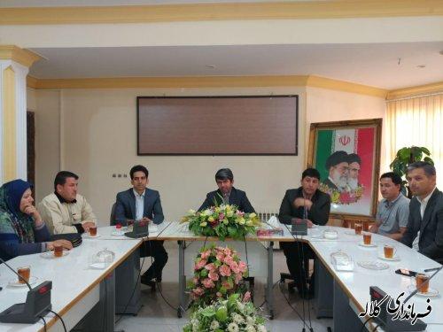 دیدار فرماندار کلاله با اعضای ستاد دکتر روحانی