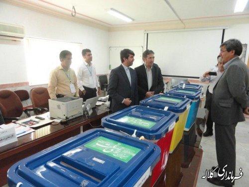 بازدید فرماندار کلاله از محل برگزاری انتخابات سازمان نظام پزشکی