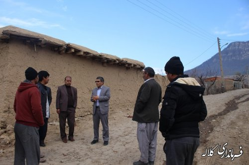 بازدید بخشدار پیشکمر از اجرای عملیات بازگشایی معابر روستای سوار بالا