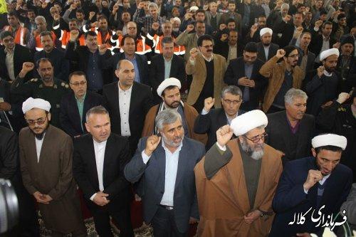 حضور چشمگیر علما،روحانیون،مسئولین و مردم بخش پیشکمر در حماسه 9 دی شهرستان
