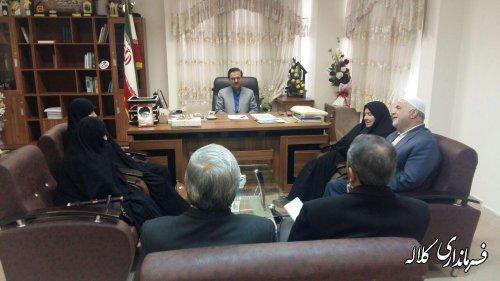 دیدار مدیر جامعة القرآن استان و شهرستان کلاله بافرماندار