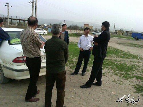 بازدید فرماندار کلاله از محل برپایی نوروزگاه در روستای تمرقره قوزی