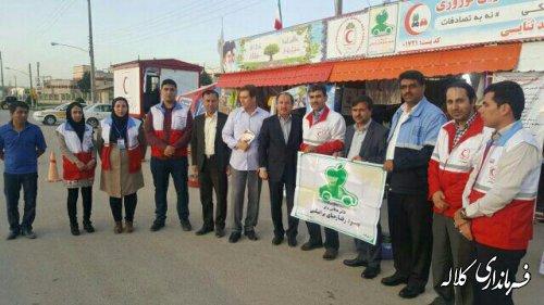بازدید فرماندار کلاله از کمپ نوروزی هلال احمر