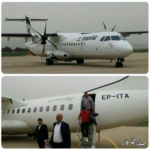 در اولین روز کاری سال97 پرواز مسافربری فرودگاه کلاله راه اندازی شد