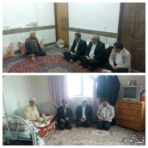 دیدار فرماندار کلاله با پدران تحت پوشش کمیته امداد امام خمینی (ره) بمناسبت روز پدر