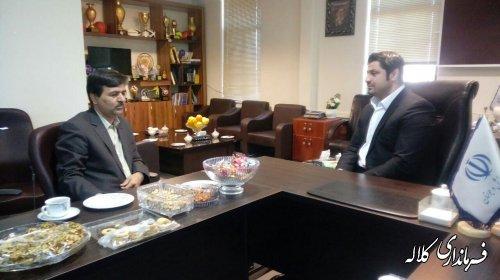 نشست فرماندار کلاله با مدیرکل ورزش و جوانان استان