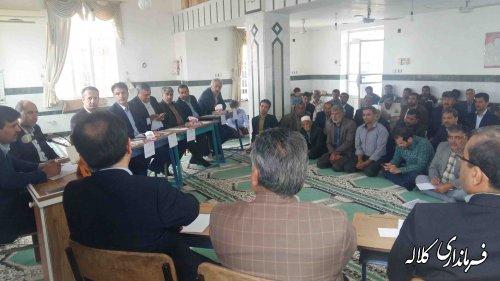 گفتگوی رودرروی فرماندار کلاله با دهیاران و شوراهای دهستان کنگور