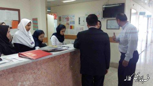 فرماندار کلاله به صورت سرزده از بیمارستان رسول اکرم شهرستان بازدید کرد
