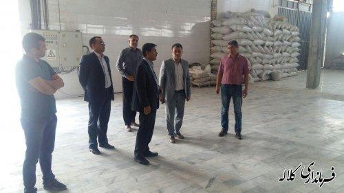 بازدید فرماندار کلاله از تولیدی آجیل دست چین گلستان