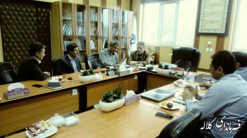 نشست فرماندار کلاله با دکتر فاضل رئیس دانشگاه علوم پزشکی استان