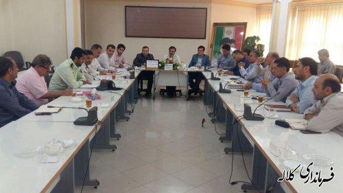 جلسه تنظیم بازار و مبارزه با قاچاق کالا و ارز شهرستان کلاله برگزار شد