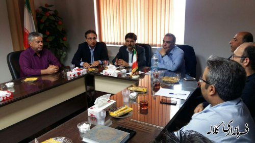 نشست فرماندار کلاله با رئیس گروه نظام فنی و روستایی بنیاد مسکن انقلاب اسلامی کشور