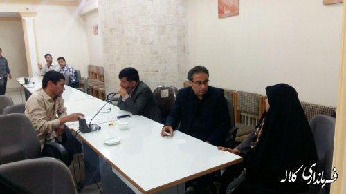 ملاقات عمومی فرماندار کلاله با شهروندان و مراجعه کنندگان