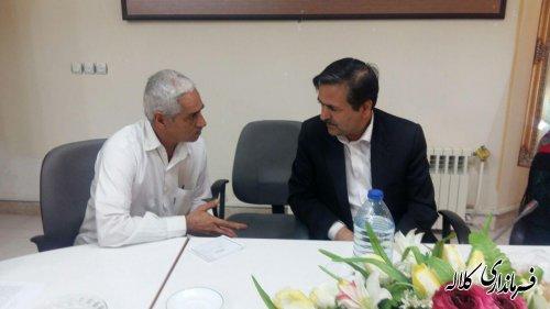 ملاقات عمومی فرماندار کلاله با مردم برگزار شد.