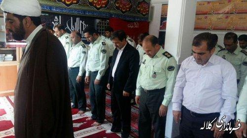 حضور فرماندار کلاله در ستاد نیروی انتظامی شهرستان