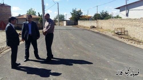 بازدید فرماندار کلاله از پروژه آسفالت روستای قره جه
