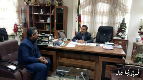 دیدار رئیس بیمه سلامت کلاله با فرماندارشهرستان