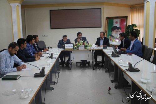 جلسه بررسی ساخت و ساز های غیرمجاز شهرستانکلاله برگزار شد
