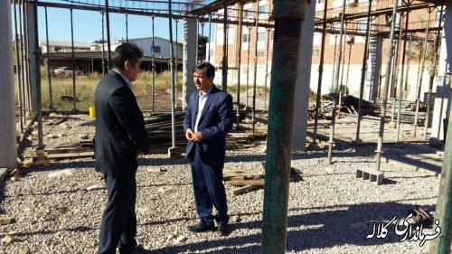 بازدید فرماندار کلاله از مراحل ساخت آزمایشگاه سل  شهرستان