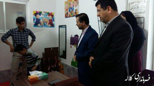 فرماندار کلاله از مراکز آموزشی و توانبخشی معلولین شهرستان بازدید کرد