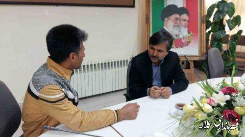 ملاقات عمومی فرماندار شهرستان کلاله با شهروندان برگزار شد