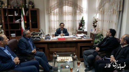 دیدار مدیر نظارت و رسیدگی به شکایات کمیته امداد امام خمینی (ره) کشور با فرماندار کلاله