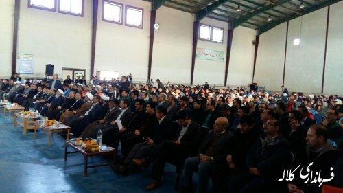 آیین متمرکز افتتاح و کلنگ زنی پروژهای شهرستان کلاله برگزار شد