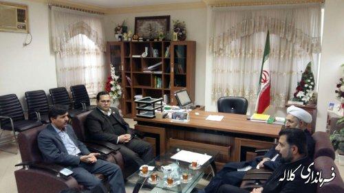 دیدار مدیرکل کتابخانه های استان با فرماندار کلاله