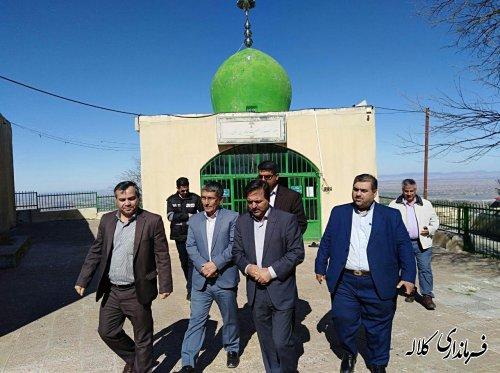 بازدید میدانی فرماندار شهرستان کلاله از مسیر زیارتگاه خالد نبی (ع)
