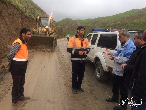 بازدید فرماندار کلاله از جاده ها و اقدامات راهداری شهرستان