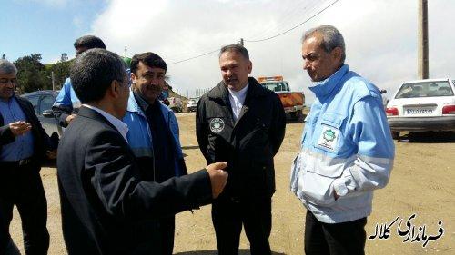 بازدید سرپرست فرمانداری کلاله از جاده روستایی و گردشگری خالد نبی (ع)