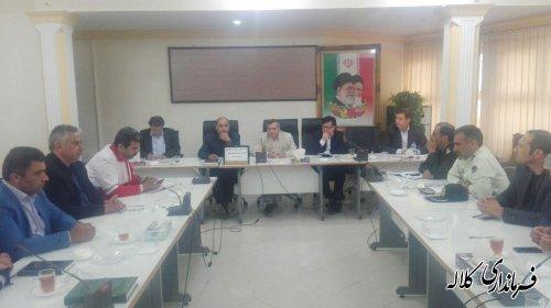 جلسه اضطراری شورای هماهنگی مدیریت بحران شهرستان کلاله برگزار شد