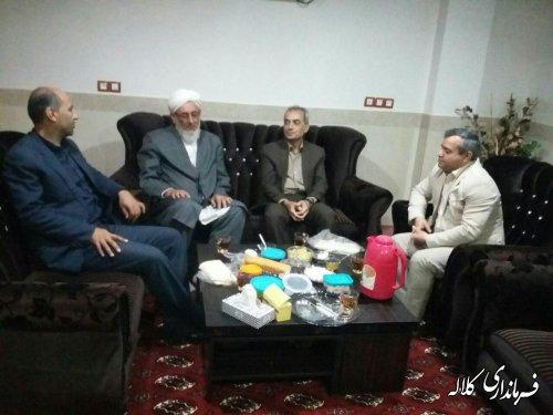 دیدار سرپرست فرمانداری کلاله با ائمه جمعه شهر فراغی