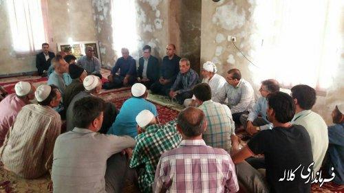 نشست فرماندار کلاله با اهالی روستای قره اغاج