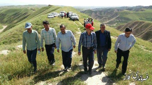 بازدید فرماندار کلاله از پروژه ها و خسارات ناشی از سیل