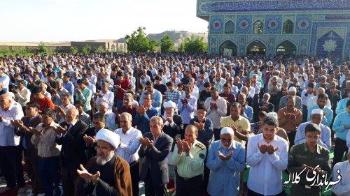 اقامه نماز با شکوه عید سعید فطر در شهرستان کلاله برگزار شد