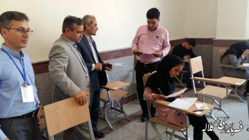 بازدید سرپرست فرماندار کلاله از روند برگزاری امتحانات دانشگاه پیام نور شهرستان