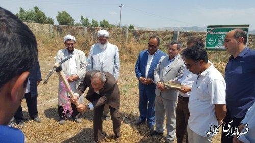 کلنگ احداث مرکز جهاد کشاورزی در دهستان تمران به زمین زده شد