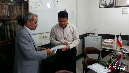 دیدار سرپرست فرمانداری کلاله با کارکنان اداره بهزیستی شهرستان