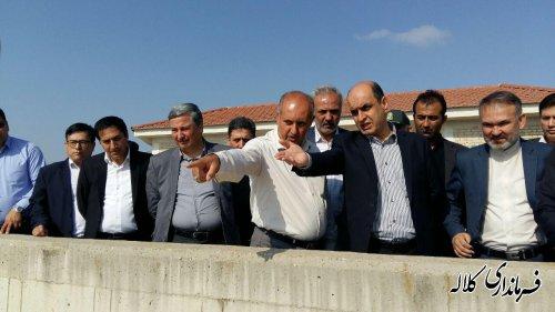 از سد بوستان در شهر کلاله بازدید کرد