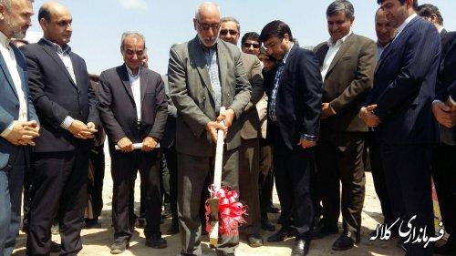 کلنگ احداث ساختمان بنیاد شهید و امور ایثار گران شهرستان کلاله به زمین زده شد