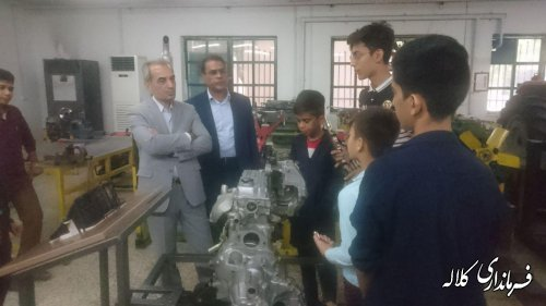 فرماندار کلاله از مرکز آموزش فنی و حرفه ای شهرستان بازدیدکرد