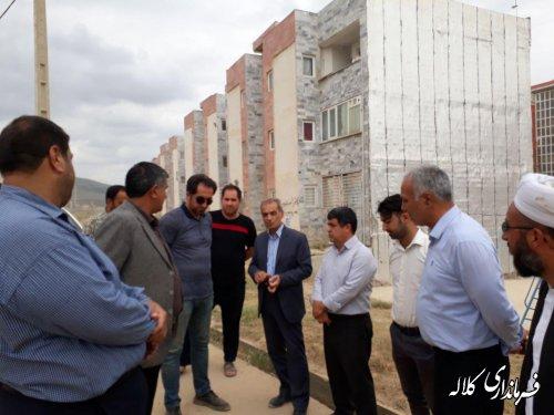 بازدید فرماندار کلاله از وضعیت جاده مسکن مهر شهرستان