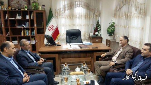 نشست مدیرعامل شرکت توزیع برق استان با فرماندار شهرستان کلاله