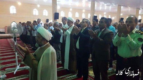 نماز عید سعید قربان در شهرستان کلاله اقامه شد