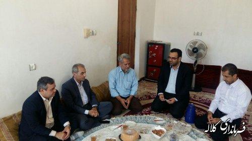 دیدار فرماندار کلاله با جانباز سرفراز شهرستان بمناسبت عید سعید قربان