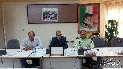 جلسه شورای ترافیک شهرستان کلاله برگزار شد