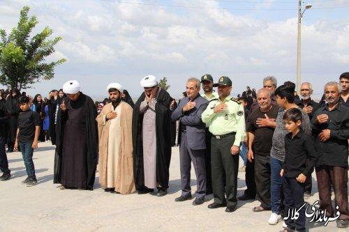 حضور فرماندار شهرستان کلاله در مراسم عزاداری تاسوعای حسینی