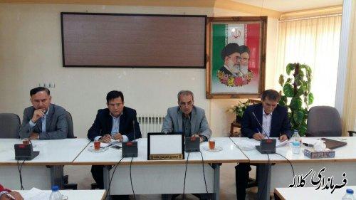 جلسه شورای هماهنگی مدیریت بحران شهرستان کلاله برگزار شد